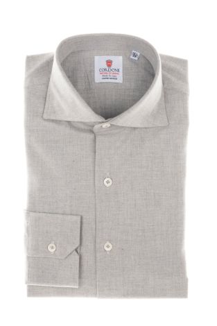 Cordone1956  - Classic Shirt  Mod. Grey Flannel Shirt   - Made by: Machine    - Type: casual   - Made In Italy
