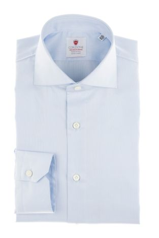 Cordone1956  - By-Hand Shirt   Mod. Azure Panama Easy Iron   - Made by: Handmade  - Type: business   - Made In Italy