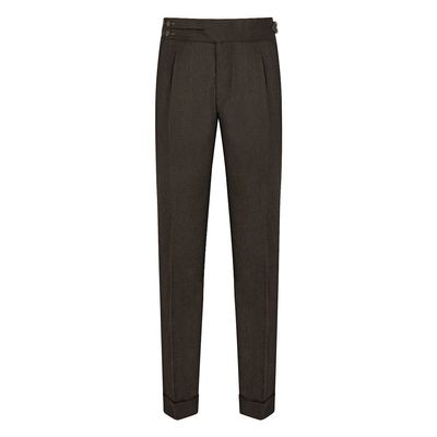 Cordone1956 - Trousers Mod Flannel Green Trousers - Fabric Flannel