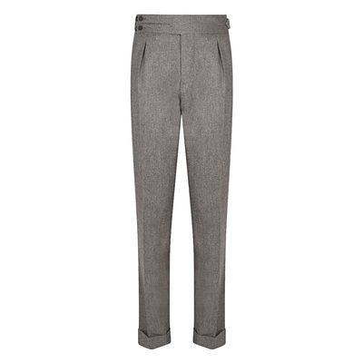Cordone1956 - Trousers Mod Flannel Grey Trousers - Fabric Flannel