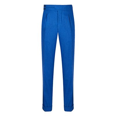 Cordone1956 - Trousers Mod Flannel Light Blue Trousers - Fabric Flannel