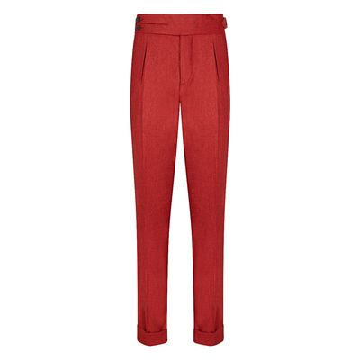 Cordone1956 - Trousers Mod Flannel Red  Trousers - Fabric Flannel