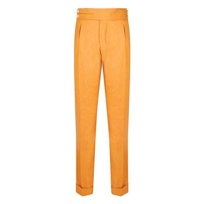 Cordone1956 - Trousers Mod Flannel Yellow Trousers - Fabric Flannel