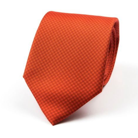 Cordone1956 - Necktie Mod. Ties 3 Fold Lined - Fabric silk - Color Red/Red