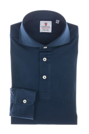 Cordone1956 - Tailored Shirt Mod. Polo Blue - Shirt by Hand - Made In Italy