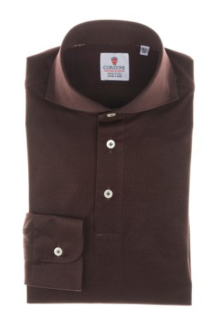 Cordone1956 - Tailored Shirt Mod. Polo  Brown - Shirt by Hand - Made In Italy