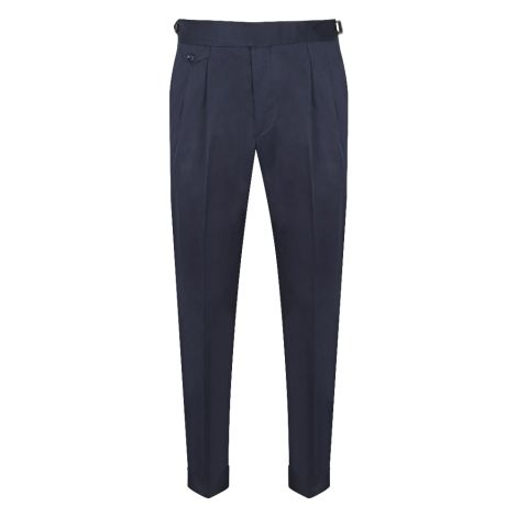 Cordone1956  - Trousers Mod Bluee Cotton Trousers - Fabric cotton