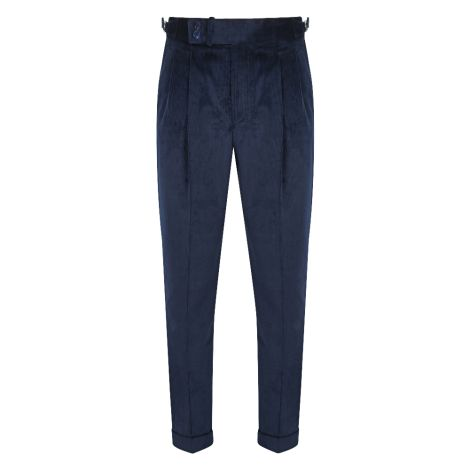 Cordone1956  - Trousers Mod Bluee Velvet  Trousers - Fabric Velluto