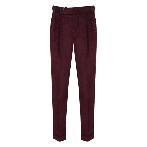 Cordone1956  - Trousers Mod Bordeaux Velvet  Trousers - Fabric Velluto
