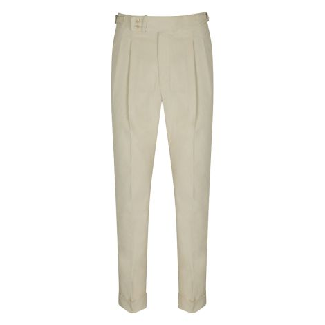 Cordone1956  - Trousers Mod White Velvet  Trousers - Fabric Flannel