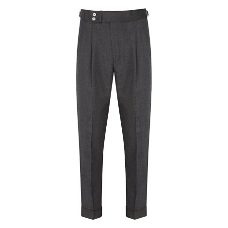 Cordone1956  - Trousers Mod Grey Flannel  Trousers - Fabric Flannel