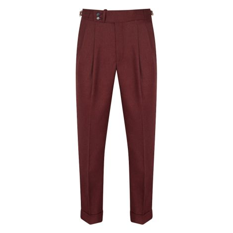 Cordone1956  - Trousers Mod Bordeaux Flannel  Trousers - Fabric Flannel