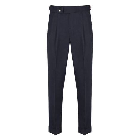Cordone1956  - Trousers Mod Blue Flannel   Trousers - Fabric Flannel