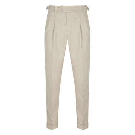 Cordone1956  - Trousers Mod Beige Flannel  Trousers - Fabric cotton
