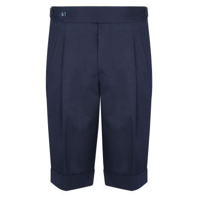 Cordone1956  - Shorts Mod Blu   Cotton Trousers - Fabric Cotton  - Blu -