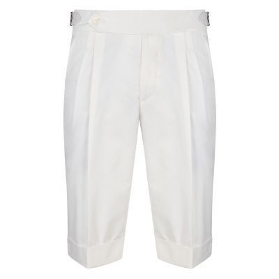 Cordone1956  - Shorts Mod White Cotton Trousers - Fabric Cotton  - White