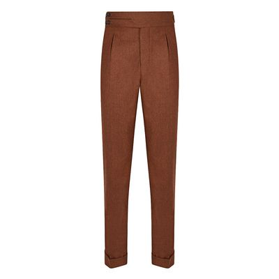 Cordone1956 - Trousers Mod Flannel Rust Trousers - Fabric Flannel