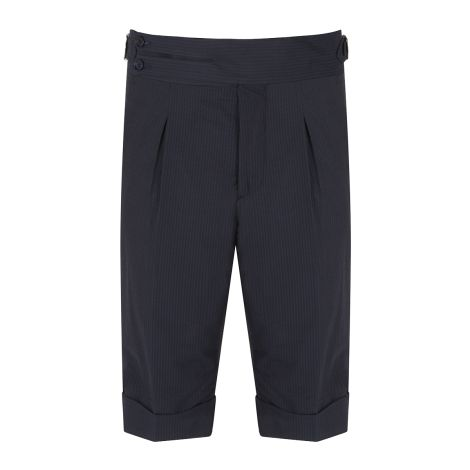 Cordone1956 -  Deep Navy Seersucker Tailored Shorts   - Made by Machine - Made In Italy