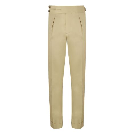 Cordone1956 - Sand Cotton  Trousers - Made by Machine - Made In Italy