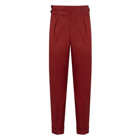 Cordone1956 - Red Cotton  Trousers - Made by Machine - Made In Italy