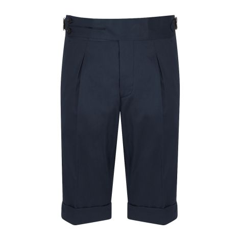 Cordone1956 -  Blu Cotton Tailored Shorts  - Made by Machine - Made In Italy