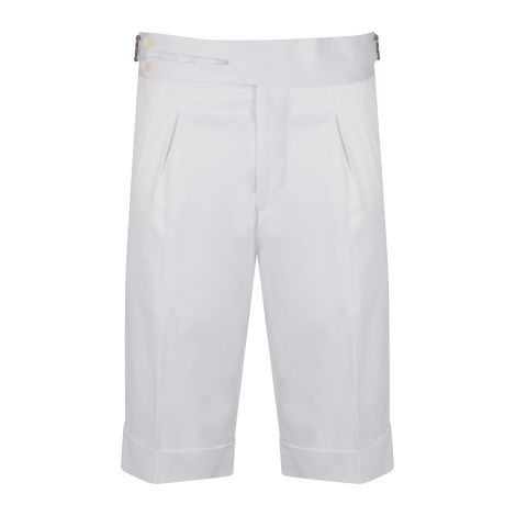 Cordone1956 -  White Cotton Tailored Shorts  - Made by Machine - Made In Italy
