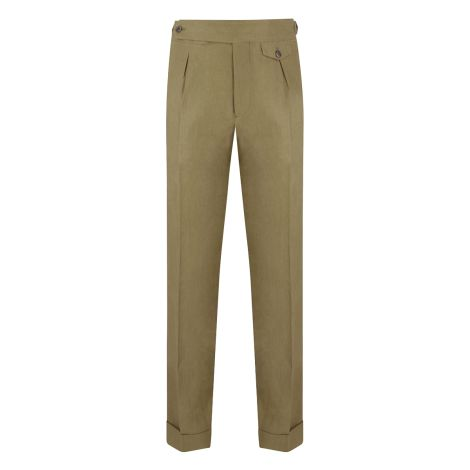 Cordone1956 - Beige Linen  Trousers - Made by Machine - Made In Italy