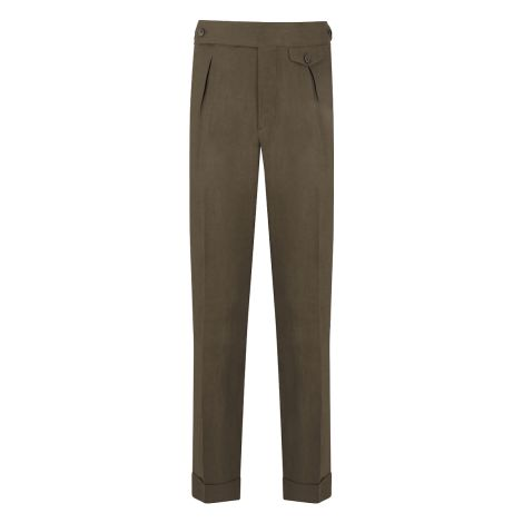 Cordone1956 - Brown Linen  Trousers - Made by Machine - Made In Italy