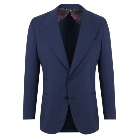 Cordone1956 - Jacket Mod Blu Navy Wool  Single -Breasted Jacket - Fabric Wool -