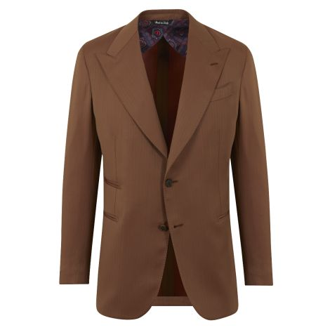 Cordone1956 - Jacket Mod Brown Wool  Single -Breasted Jacket - Fabric Wool -